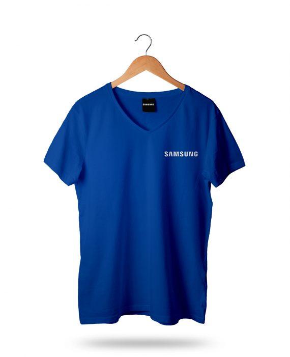 Samsung Baskılı V Yaka T-Shirt